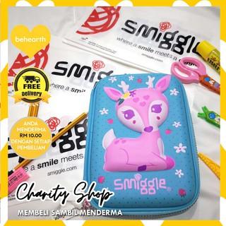 💛Authentic Smiggle Hardcase Pencil Box Case Cute Blue Pony