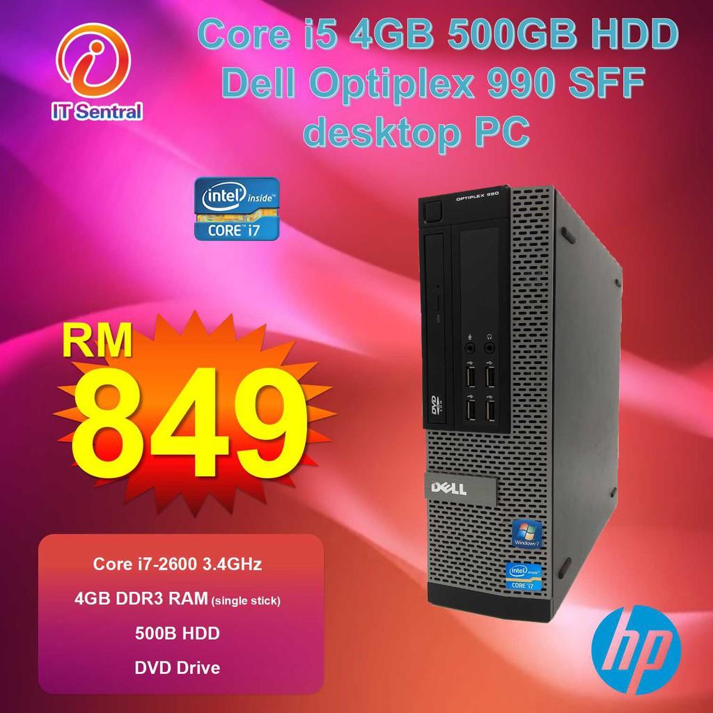 480GB SSD 16GB RAM Core i7 Dell Optiplex 990 SFF desktop PC also 8GB 240GB  SSD