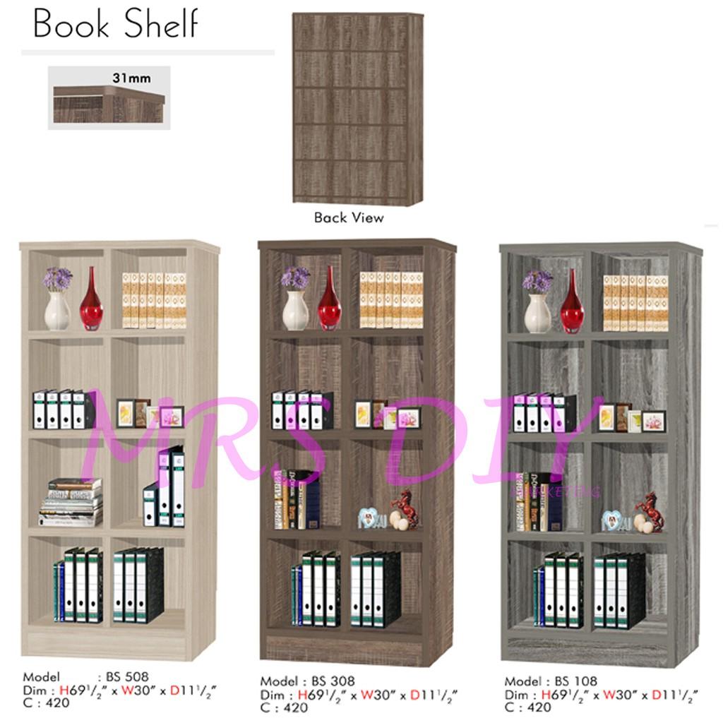 Mrs Diy Book Shelf Rak Buku Compartment Utility Colour Livien Mayple Story 5 Tingkat Box Cv Shopee Malaysia