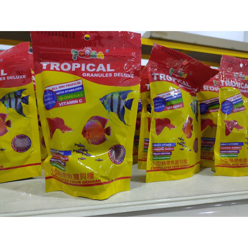 TOPKA Tropical Granules Deluxe Fish Food - 100G | Makanan Ikan