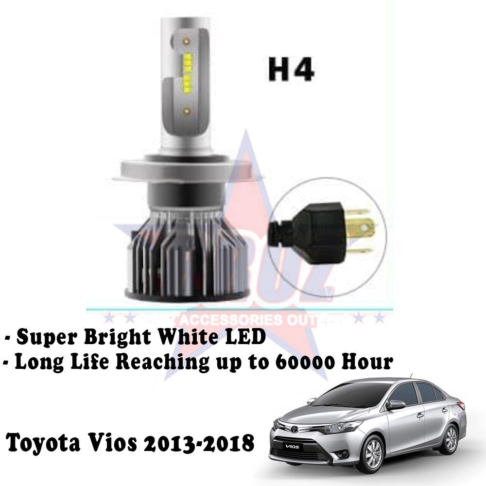 Toyota Vios 2014 2017 C6 Led Light Car Auto Head Light Lamp 6500k White Light Shopee Malaysia