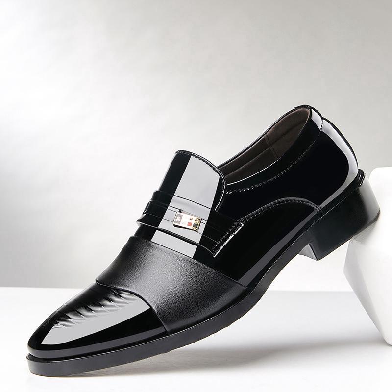 รองเท้าหนังสุภาพบุรุษรองเท้าหนัง รองเท้าผู้ชาย ทันสมัย ใส่สบาย ใส่ได้ทุกโอกาส (ขนาด: 3
