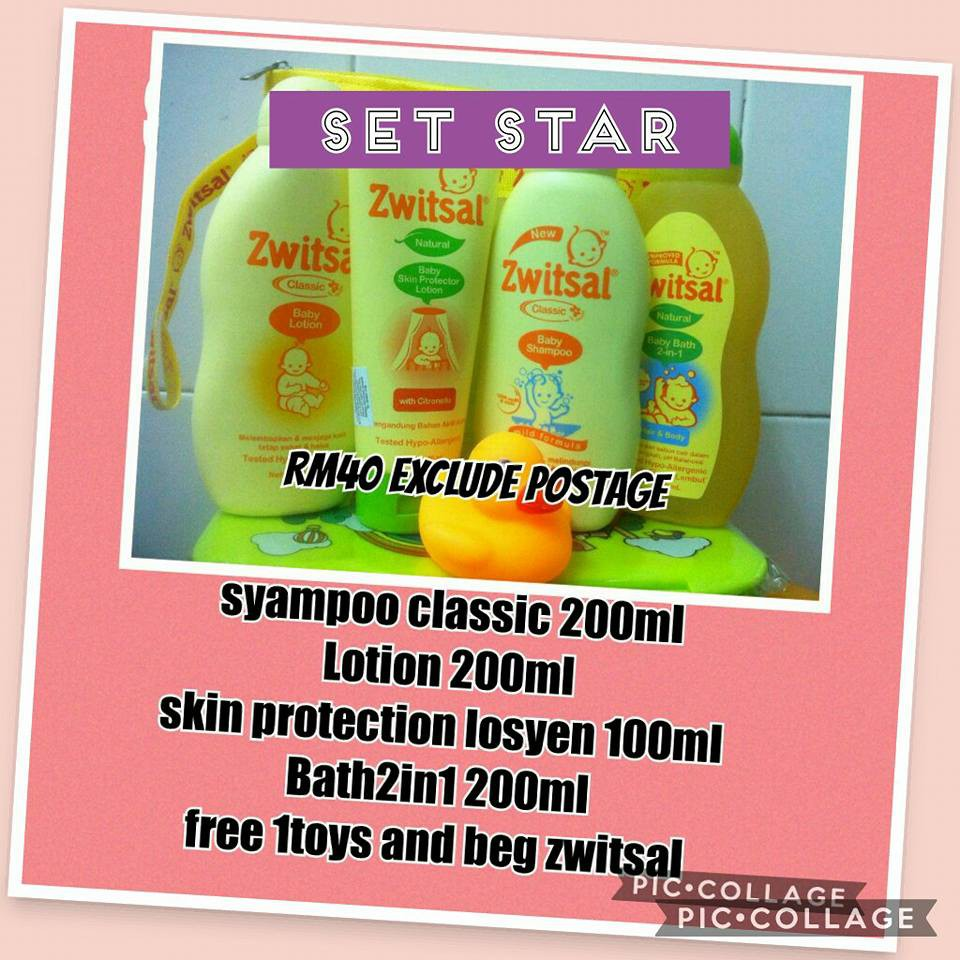 Zwitsal Set Star Shopee Malaysia Lotion Classic 200ml