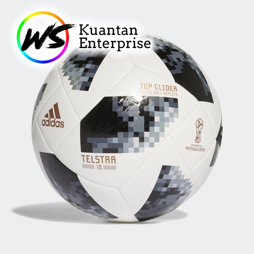 【100% Original】Adidas Football/World Cup Football | Bola Sepak  (Size 5)
