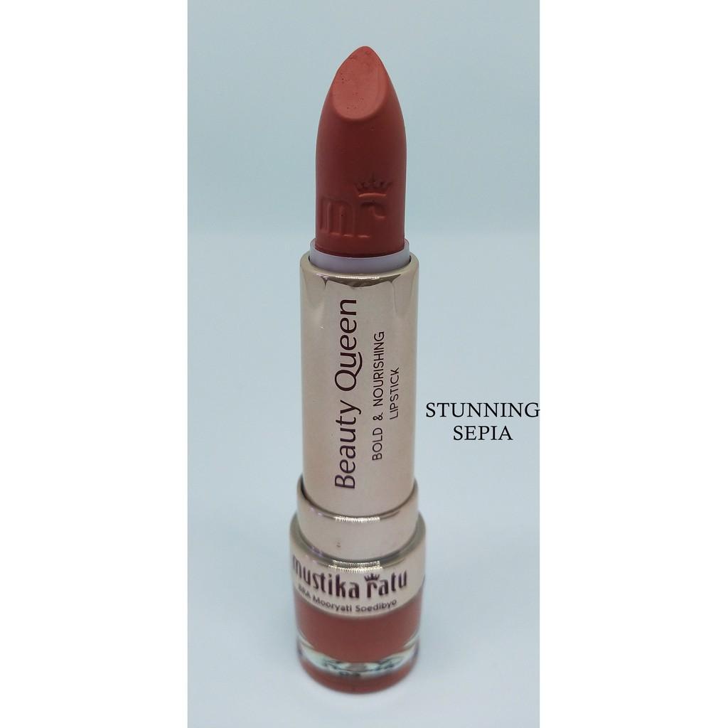 Mustika Ratu Beauty Queen Bold & Nourishing Lipstick STUNNING SEPIA [Mustika Ratu]