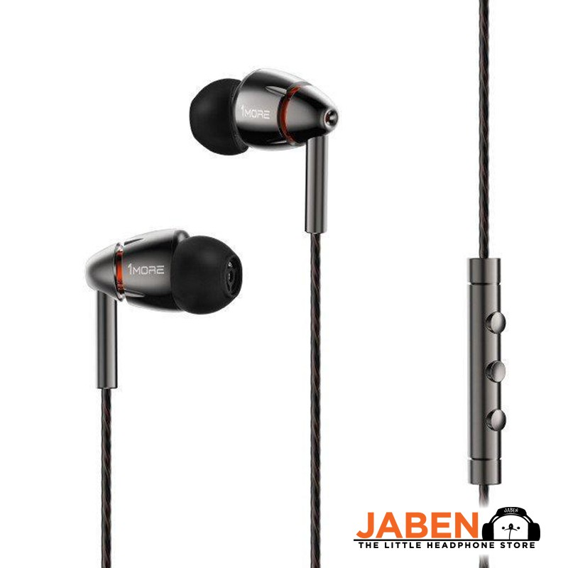 1More Quad Driver Hi Res Hybrid Remote Volume Control Microphone In Ear Earphones Jaben E1010