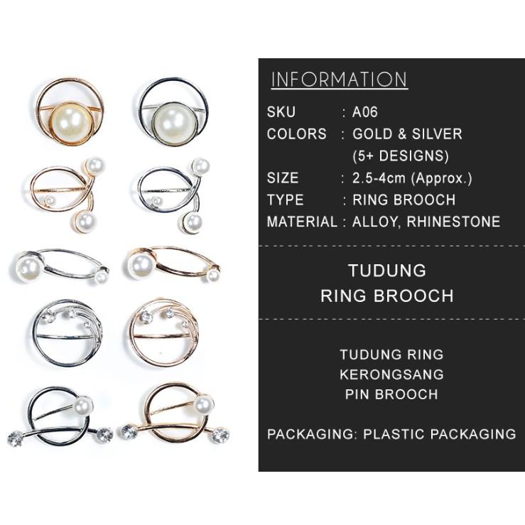 MALAYSIA A06] KLIP BROOCH MUTIARA TUDUNG BAWAL / BROOCH TUDUNG /PEARL TUDUNG RING BROOCH COLLECTION