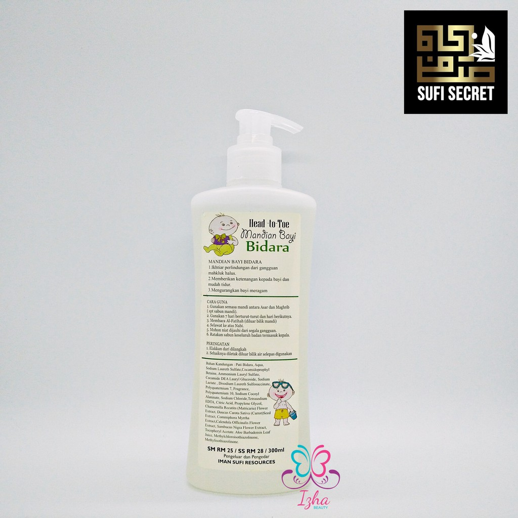 [SUFI SECRET] Mandian Bayi Bidara (Head to Toe) - 300ml