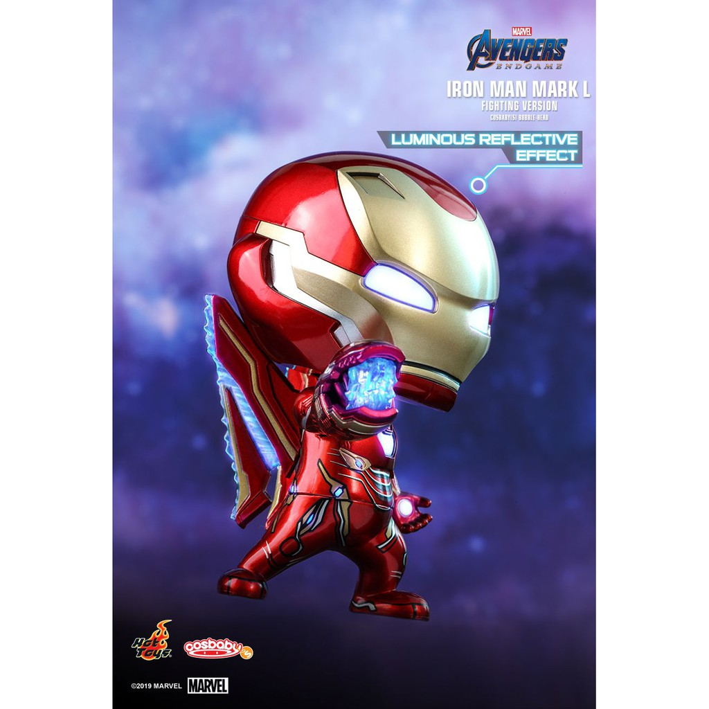 Avengers Cosbaby Iron Man Mark I Hot Toys Metallic Color Version Marvel Comics