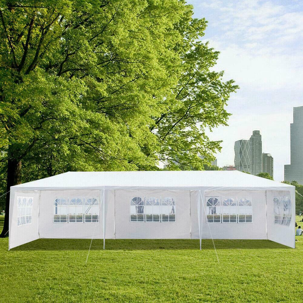 10X 30ft Canopy Wedding Party Tent Gazebo Pavilion w//5 Walls Cover Outdoor