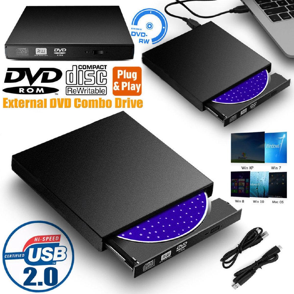 USB 2.0 External CD//DVD Drive for Apple Macbook Pro 13.3 Inch A1278