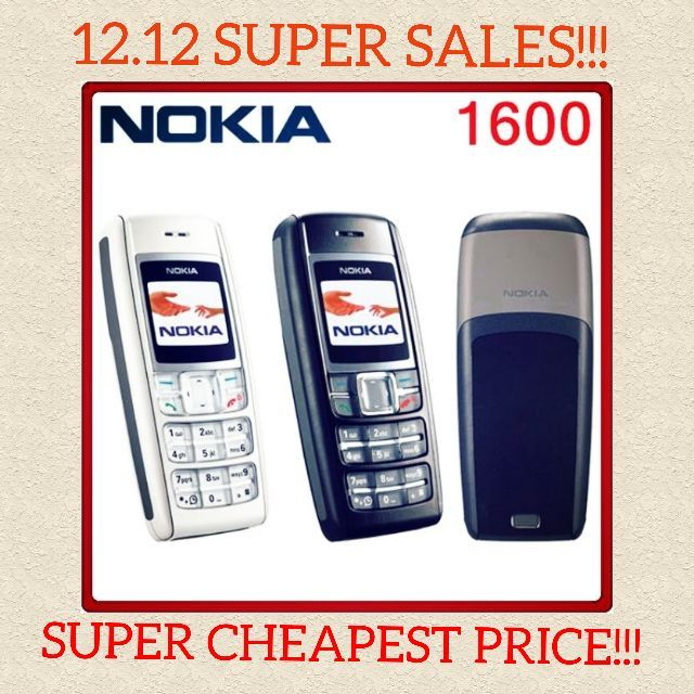 Nokia 1600 Classic Phone Colour Screen With Charger (Import Set)