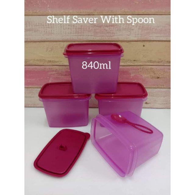 Tupperware Shelf Saver with Spoon 840ml (4pcs) / Spice Container / Bekas Rempah Tupperware