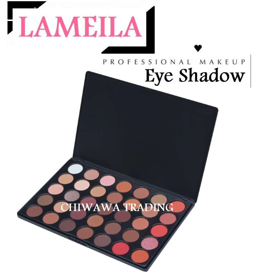 35 Colorful Eye Shadow Palette Cosmetic Smoky Glitter Palette + Free Brush
