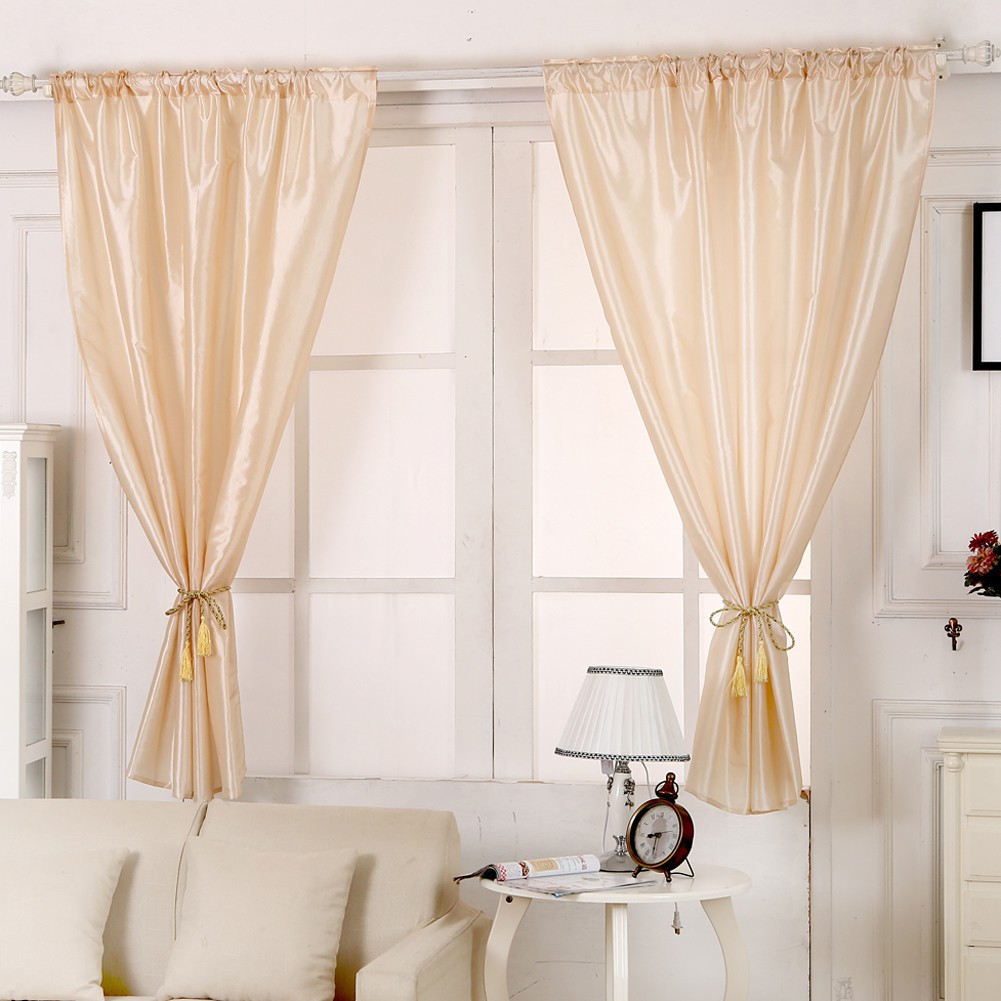 home decor Blackout Thermal Solid Window Curtain 130cm x 190cm