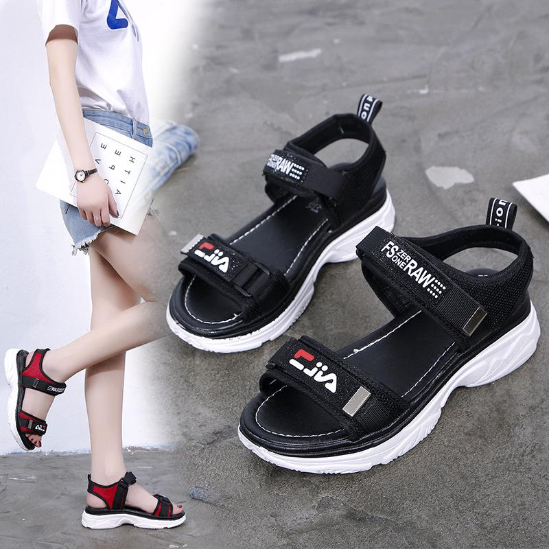 2d47afe55dff7 HERO Women Sandal Fashion Casual Walking Flat Magic Sticker Sandals ...