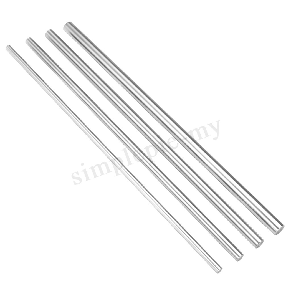 300mm 6//8//10//12mm CNC 3D Printer Axis Chromed Smooth Rod Steel Linear Rail Shaft