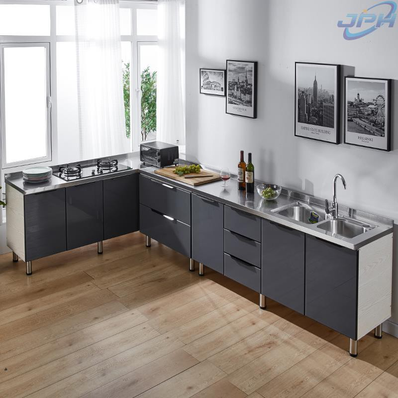 Simple Cabinets Household Stainless Steel Kitchen Cabinets Stovetop Cabinets Cabinets Integrated Assembly Kitchen Cabine Shopee Malaysia