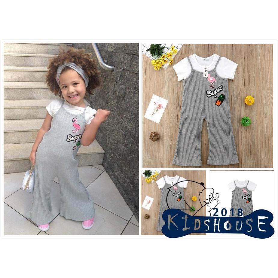 c5878679c H-C☆2Pcs Set Girls Dress Kid Baby Toddler Flower Lattice Tops+Skirt Outfits  | Shopee Malaysia