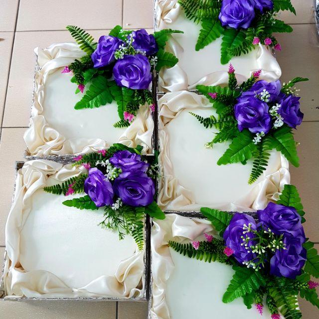 🌷🎁 Dulang Hantaran Siap Gubah Purple (5 pcs) 🌷🎁