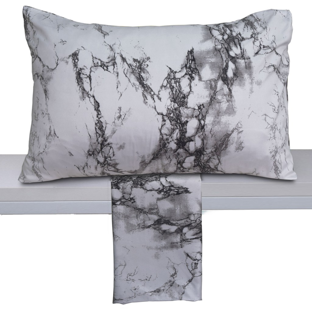 Essina Marble Microfiber  Pillow Case 1 PIECE (PILLOW NOT INCLUDED)