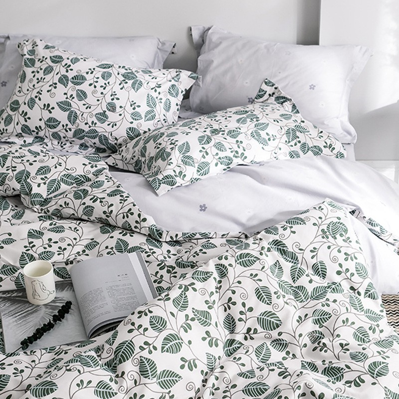 4pcs Fitted Bedsheet Set Cotton Flower Bedding Queen King Comforter Cover Matteress Fitted Bedsheet Bedding Set Shopee Malaysia