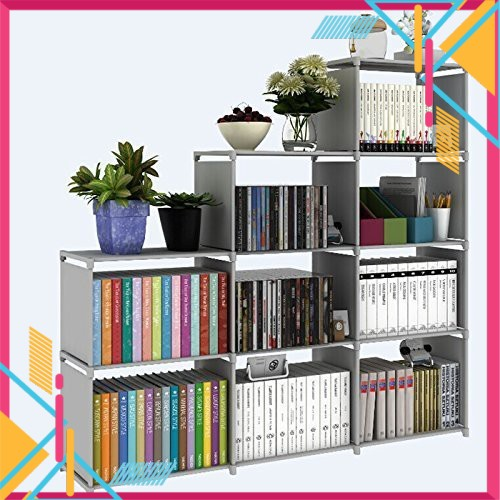 Ready Stock~ Korean DIY 4 Tiers 9 Columns Book Shelf Storage Rack