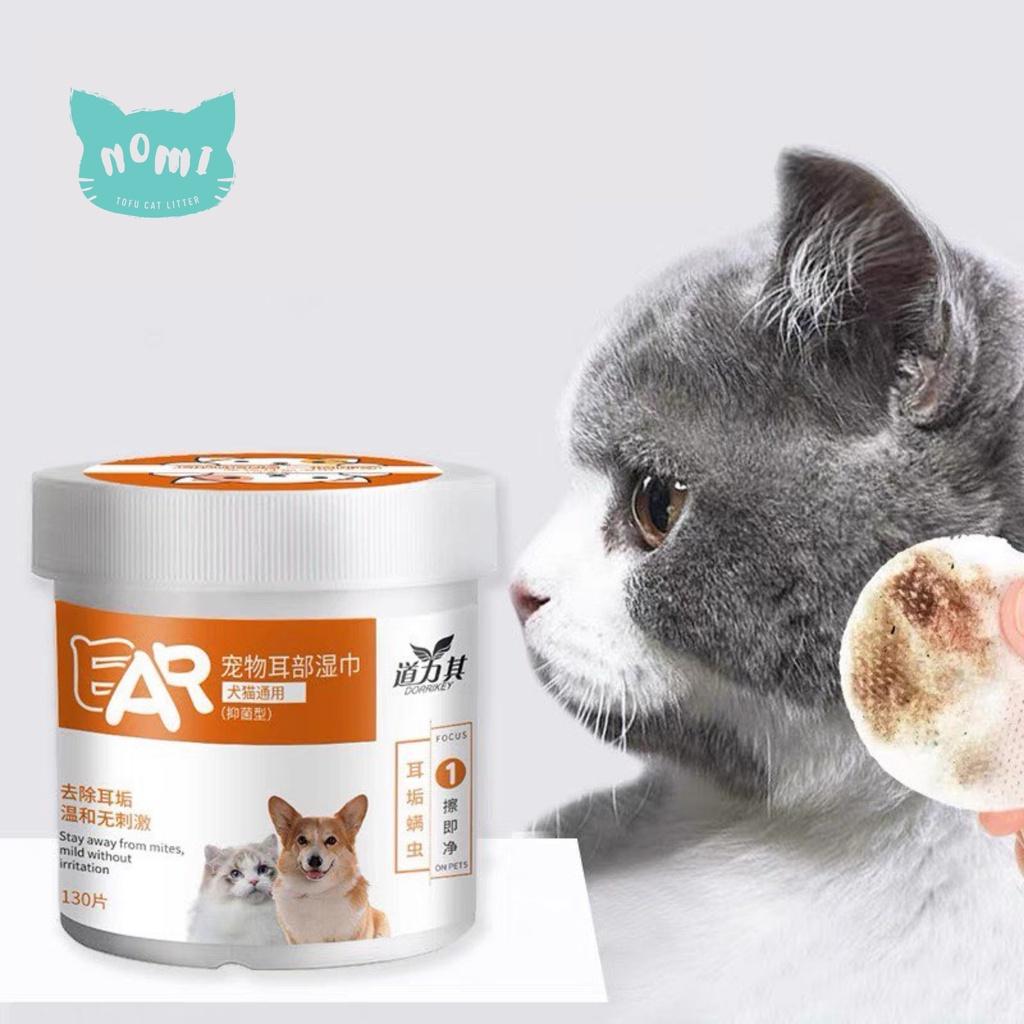 READY STOCK NOMI Pet Ear Wet Wipes Wipe Cat Dog Ear Stain Remover Gentle Cleaning Wipes kucing pembersih telinga 宠物耳朵洁