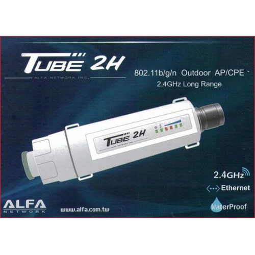 ALFA TUBE2H 2.4Ghz Outdoor AP//CPE 802.11b//g//n with Ethernet Connection Antenna