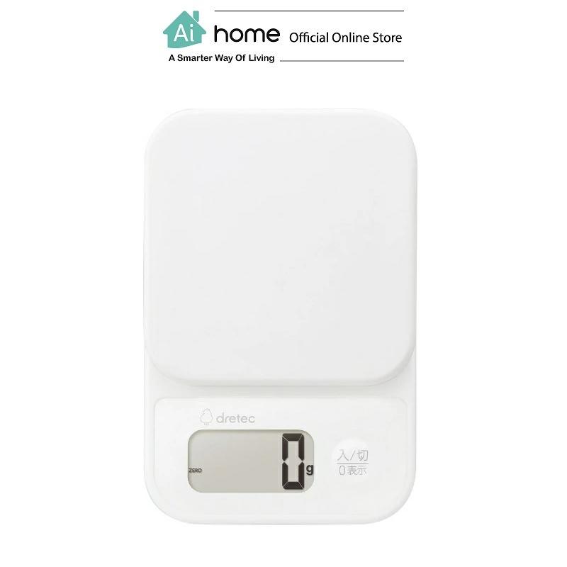 DRETEC Blanc Digital Scale Shanty 2kg with 1 Year Malaysia Warranty [ Ai Home ]