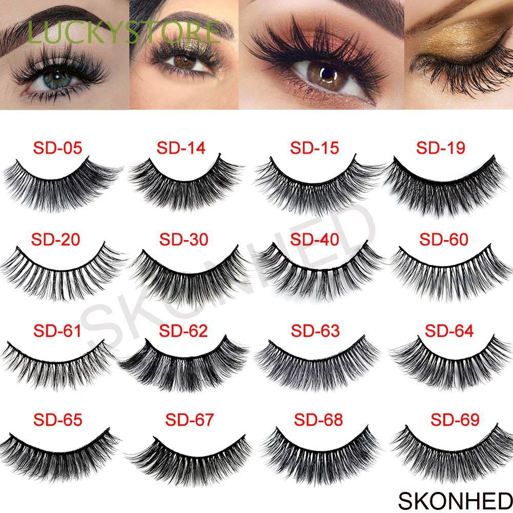 03af67a0165 ProductImage. ProductImage. SKONHED 3 Pairs Beauty Thick Cross Messy  Voluminous Lashes False Eyelashes