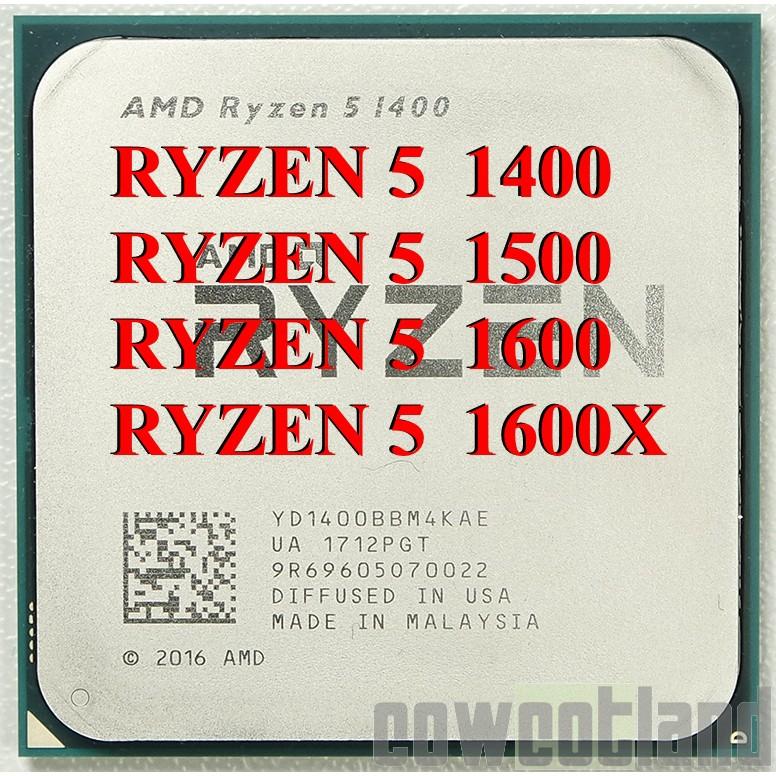 USED Ryzen 5 1400 1500X 1600 1600X AM4 processor