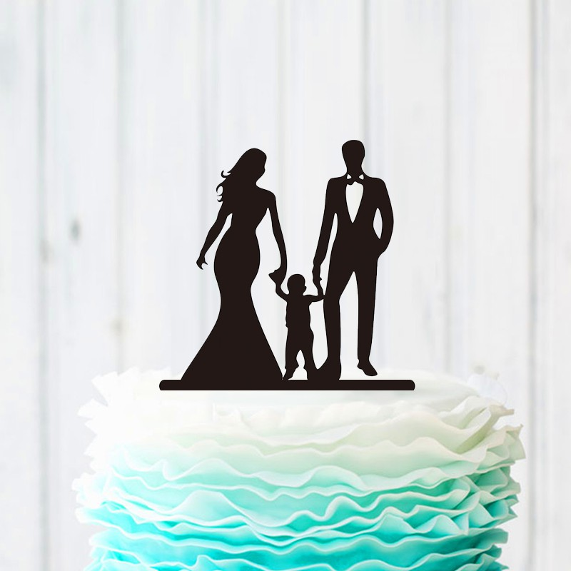 Unique Wedding Cake Topper With Little Boy