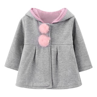 a10d25baa Baby Girls Toddler Kids Big Rabbit Ears Autumn And Winter Hoodie ...