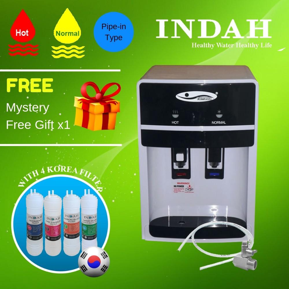 Yamada Mild Alkaline Water Dispenser Hot & Normal 389-18 with 4 Patented Korea Water Filter