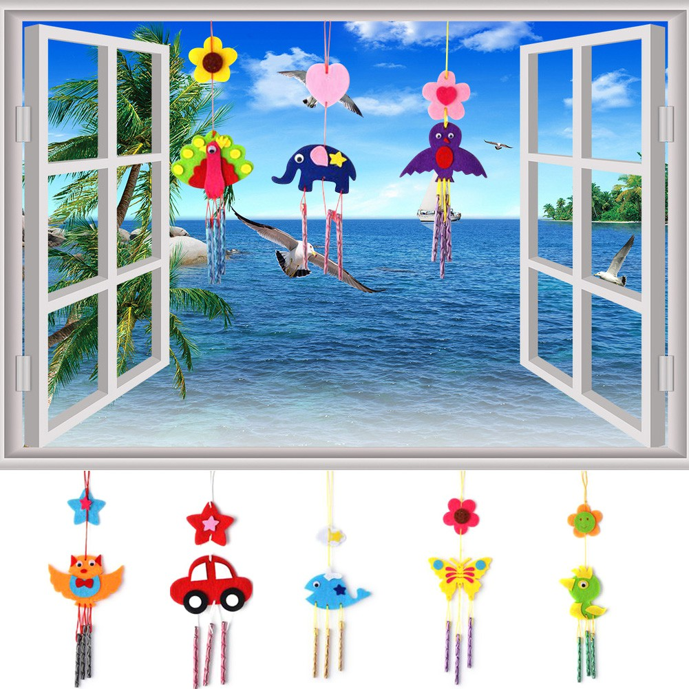 Kids Child DIY Wind Chimes Aeolian Bells Educational Puzzle Toys Craft Kits