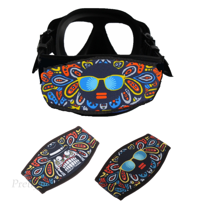 Prettyia Set of 3pcs Scuba Diving Snorkel Mask Neoprene Cover Wrapper Padded Protection Strap