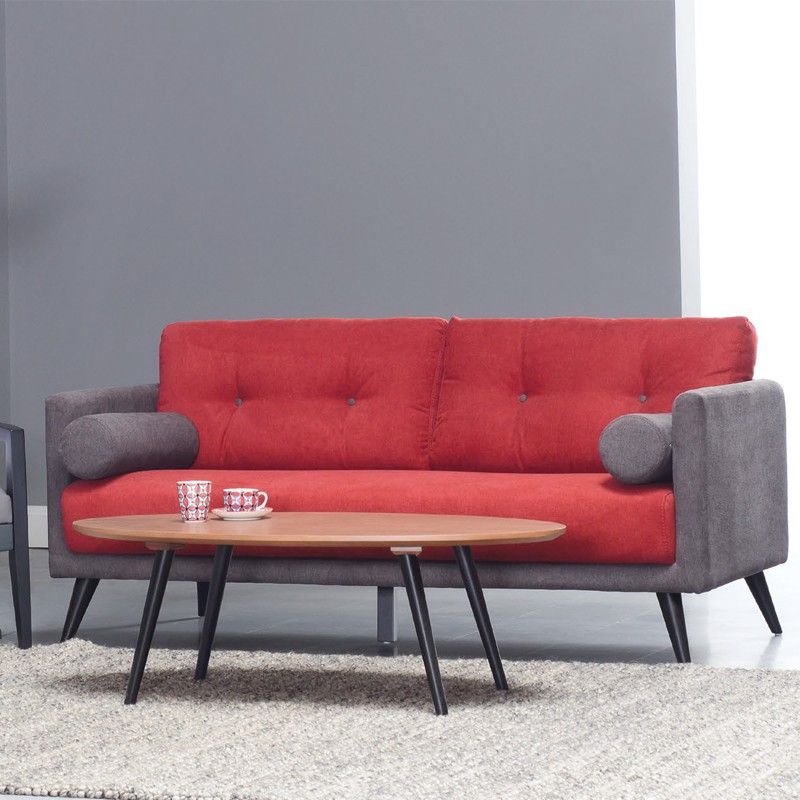 Lancer 3 seater sofa with 2 boster/ sofa 3 seater/ sofa kain 3 seater