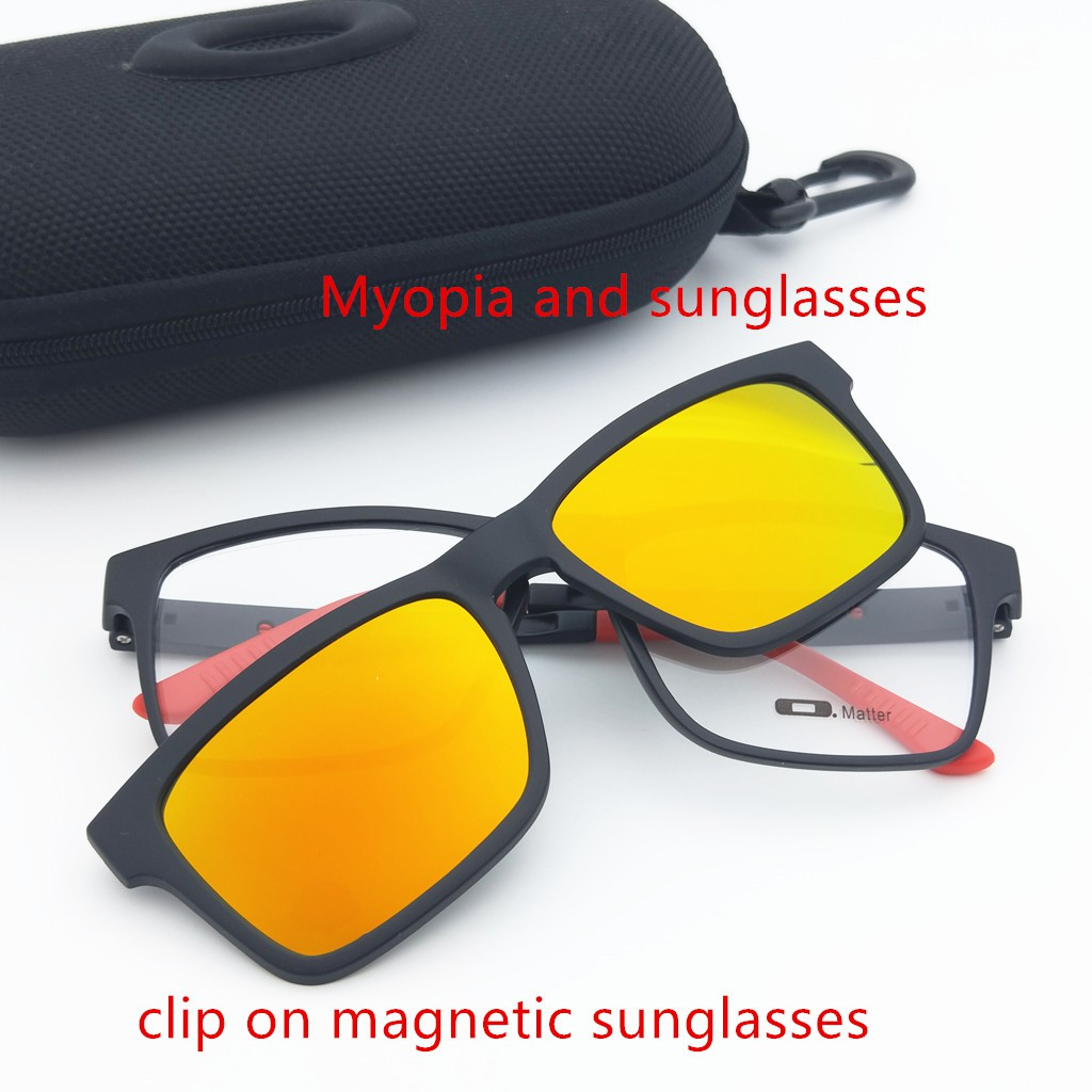 3cd4c2092d TRUTH Ultem Clip On Sunglasses Magnetic Clip Polarized Men Eyeglass Women  Clear