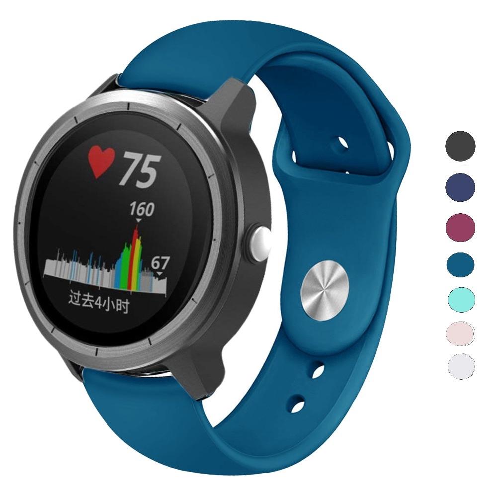 20mm Silicone Watchband Wrist Straps for Garmin Vivoactive 3 /Garmin 645  /Samsung Gear S2 Classic /galaxy Watch Active