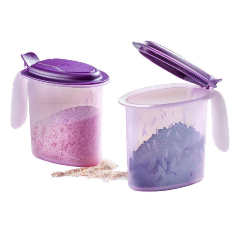 [Ready Stock] Tupperware Salt N Spice Set (2pcs ) 500ml