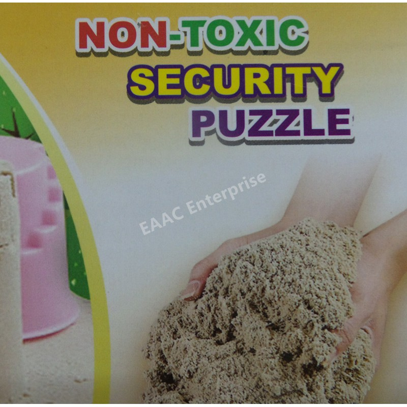 Play Sand DIY Educational Kit, Sand with Moulds