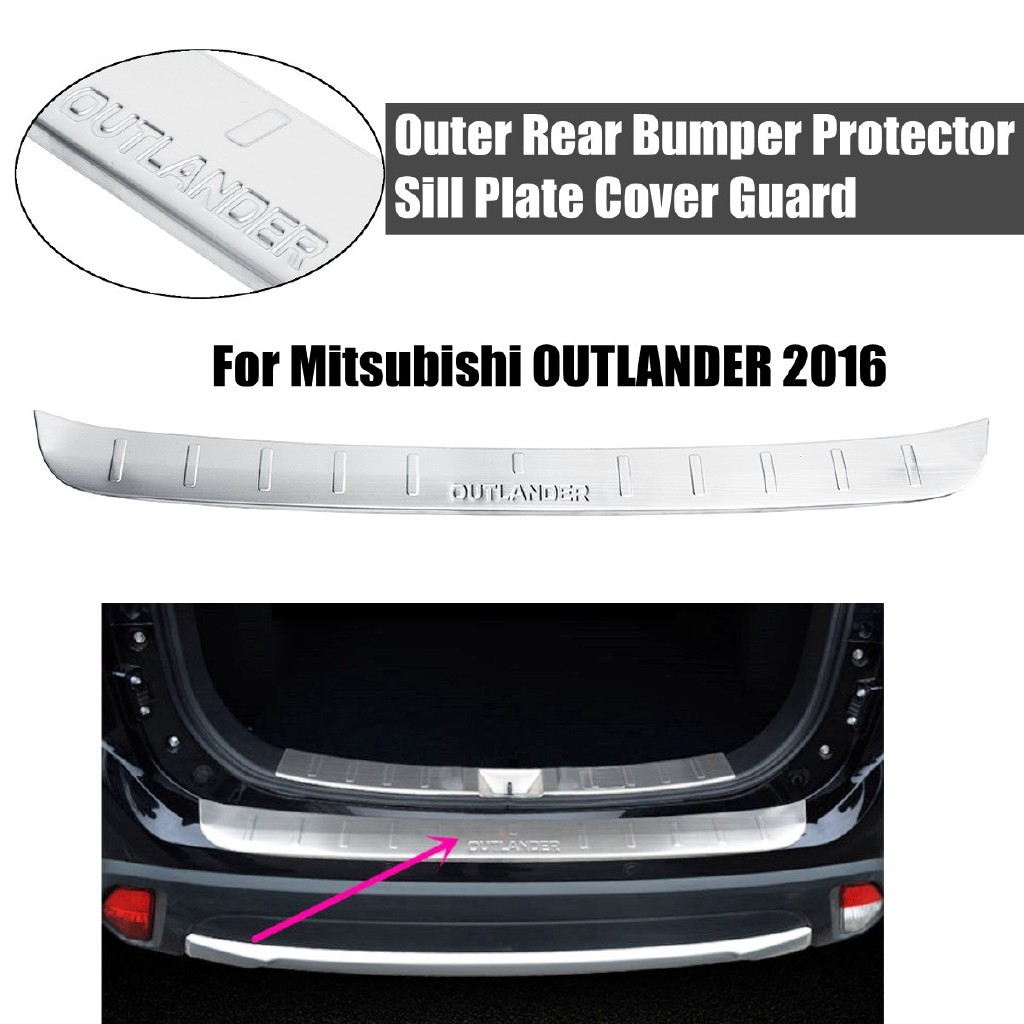 Hot!Outer Rear Bumper Protector Sill Plate Cover Guard For Mitsubishi  OUTLANDER 2016
