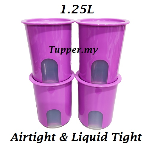 *1pc/2pc/4pc*Tupperware One Touch Window Canister Gift 1.25L OT Airtight