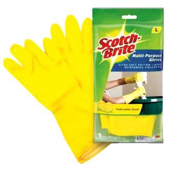 Scotch Brite Multi Purpose Gloves (Size L ) FRESH LEMON SCENT