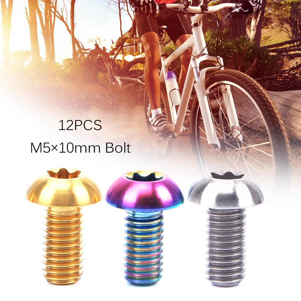 ROCKBROS Titanium Bolts Ti Screw Allen Head M6 x 16mm 5pcs Fasteners