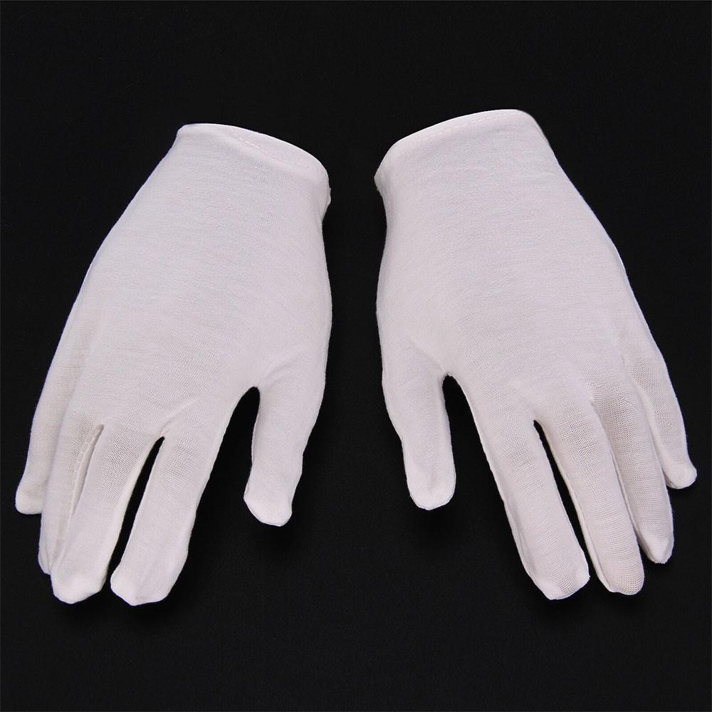 Pair Of 100/% Cotton Gloves Dermatological Eczema Butler Beauty Waiter Magician