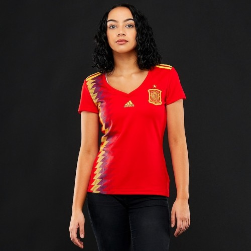 Spain Women Home World Cup 2018 CLIMALITE Fans Jersey