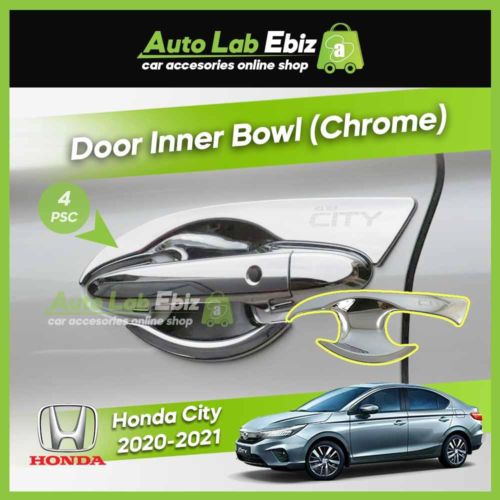 Honda City 2020-2021 Door Handle Inner Bowl (Chrome) (4pcs/set)