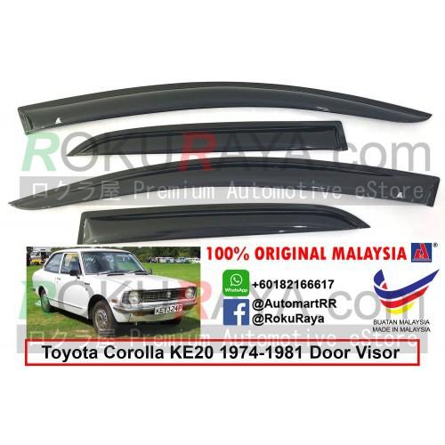 Toyota Corolla KE20 E20 (2nd Gen) 1974-1981 AG Door Visor (Small 7cm Width)